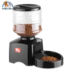 Programmable 5.5L Lcd Display Automatic Pet Feeder For Cat Dog With Timer & Voice Recording Pet