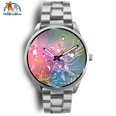Rainbow Drops Silver Watch Mens 40Mm / Metal Link
