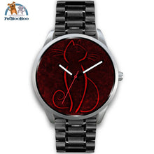 Red Cat Silver Watch Mens 40Mm / Black Metal Link