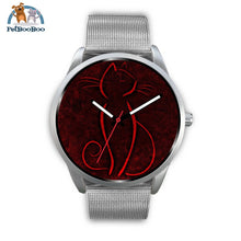 Red Cat Silver Watch Mens 40Mm / Metal Mesh
