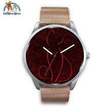 Red Cat Silver Watch Mens 40Mm / Rose Gold Metal Mesh
