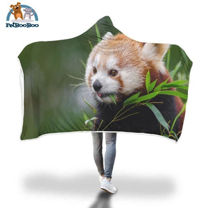 Red Panda Hooded Blanket