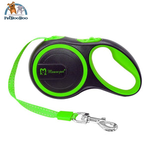 Retractable Dogs Leash Extending Reflective Leashes Green / 3M Suit For 15Kg Dog Dogs