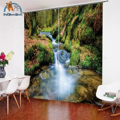 River In The Forest Curtains 3 / W 52Inch X H 84Inch Hook Curtains