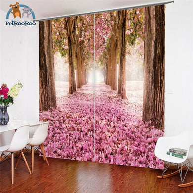 River In The Pink Forest Curtains 2 1 / W 52Inch X H 84Inch Hook Curtains
