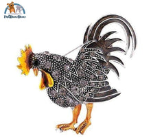 Rooster Brooch With Rhinestones For Women Black 100007322