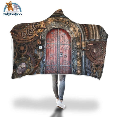 Secret Door Hooded Blanket Adult 80X55