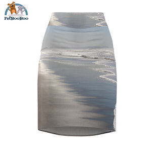 Silver Beach Womens Pencil Skirt Xs All Over Prints