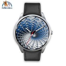 Snowflake Silver Watch Mens 40Mm / Black Leather