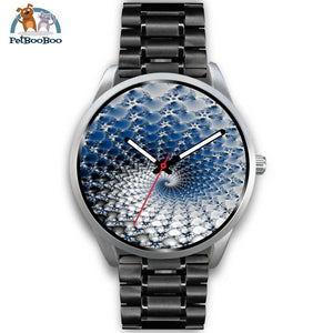 Snowflake Silver Watch Mens 40Mm / Black Metal Link