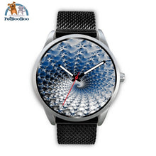 Snowflake Silver Watch Mens 40Mm / Black Metal Mesh