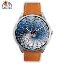 Snowflake Silver Watch Mens 40Mm / Brown Leather