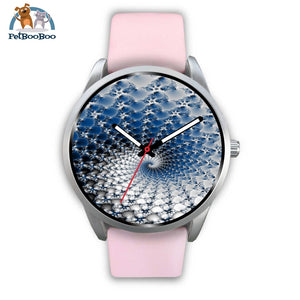 Snowflake Silver Watch Mens 40Mm / Pink Leather