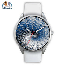 Snowflake Silver Watch Mens 40Mm / White Leather