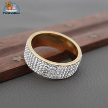 Stainless Steel Ring For Women With Rhinestone 100007323