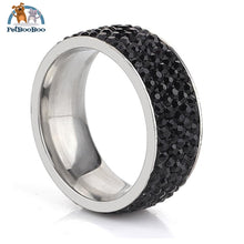 Stainless Steel Ring For Women With Rhinestone 7 / Black 100007323