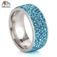 Stainless Steel Ring For Women With Rhinestone 7 / Blue 100007323