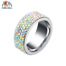 Stainless Steel Ring For Women With Rhinestone 7 / Colorful 100007323