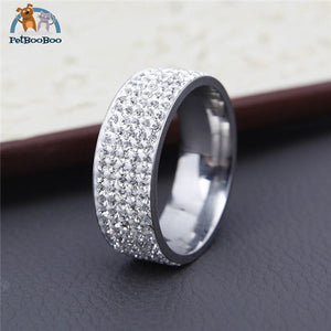 Stainless Steel Ring For Women With Rhinestone 7 / Silver 100007323