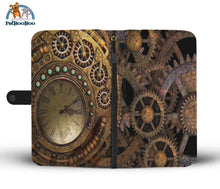 Steampunk Clock Wallet Phone Case Iphone X / Xs