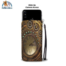 Steampunk Clock Wallet Phone Case