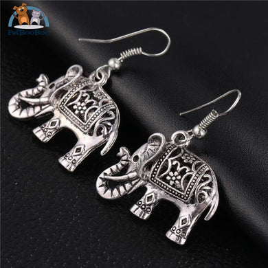 Tibetan Elephant Drop Earrings Jewel