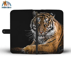 Tiger On Black Wallet Phone Case** Promo 2/1 Iphone X / Xs Case