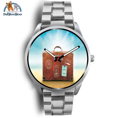 Time To Travel Silver Watch Mens 40Mm / Metal Link