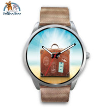 Time To Travel Silver Watch Mens 40Mm / Rose Gold Metal Mesh
