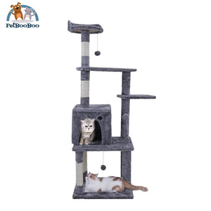 Tree Multifunctional Cat House Gray / L