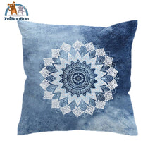 Vintage Cobalt Blue Mandala Cushion Cover Cushion