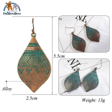 Vintage Ethnic Indian Drop Earrings For Women 200000168