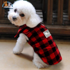 Warm Coat British Plaid Jacket For Dogs And Puppies Red / L Dogs Clothing