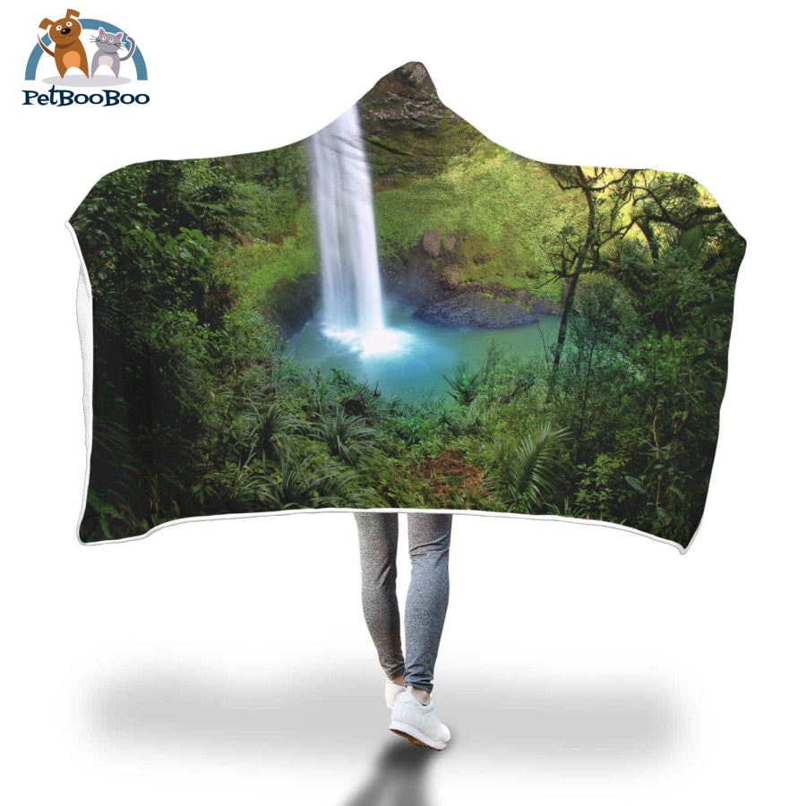 Waterfalls Hooded Blanket Adult 80X55