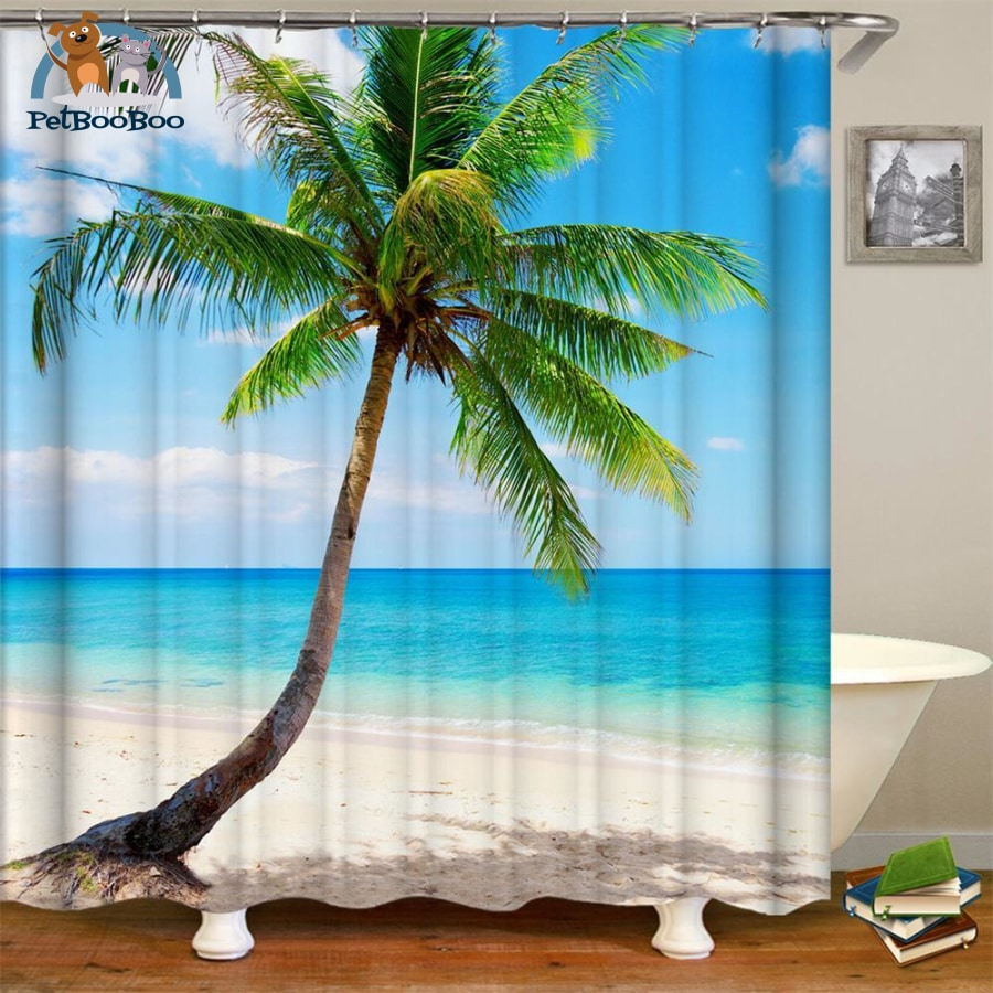 Waterfalls Scenery Shower Curtain Multi / 180*180Cm 154006