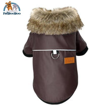 Waterproof Leather Winter Coat For Dogs And Puppies Brown / L Dogs Clothing