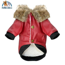Waterproof Leather Winter Coat For Dogs And Puppies Red / L Dogs Clothing
