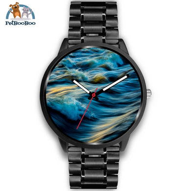 Waves Black Watch Mens 40Mm / Metal Link