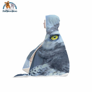 White Owl Hooded Blanket