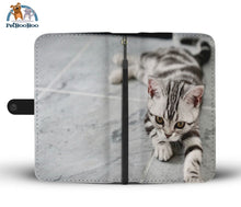 White Tiger Cat Wallet Phone Case Iphone 8
