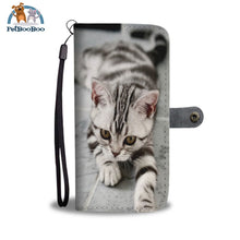 White Tiger Cat Wallet Phone Case