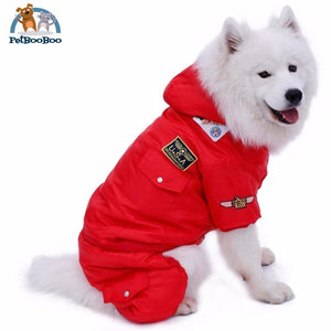 Winter Warm Jumpsuit For Dogs Red / L Jumpsuit Dogs
