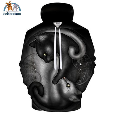 Yin Yang Cats By Khaliaart 3D Print Hoodie For Men And Women Lms328 / S 200000344