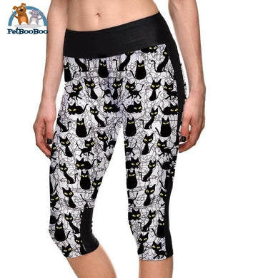 Yoga Black Cats Capri For Women J7Slgs-1209 / 4Xl 200000614