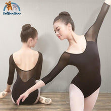Yoga Black Mesh Leotard For Women 200001875