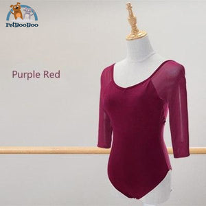 Yoga Black Mesh Leotard For Women Purple Red / L 165 To 170Cm 200001875