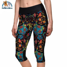 Yoga Colorful Cats Capri For Women L 200000366