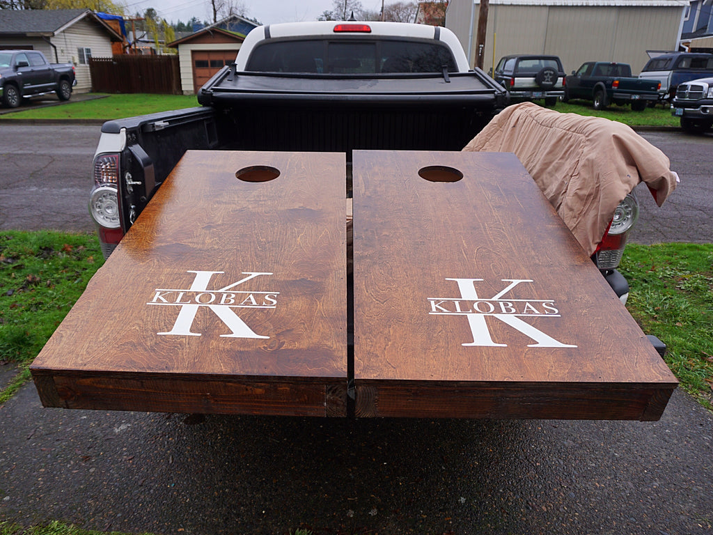 Custom Rustic Cornhole Set