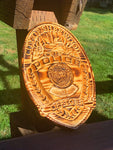 Wood Police Agency Badge