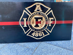 International Association of Firefighters Wood Flag